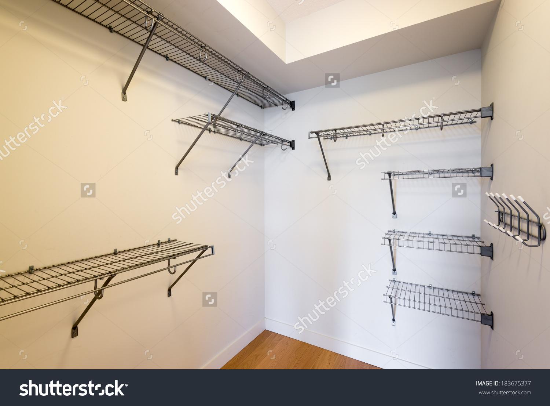 Empty Closet Working Closet Cupboard Bedroom Stock Photo 183675377.