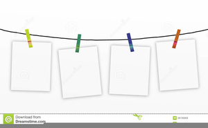 Empty Clothesline Clipart.