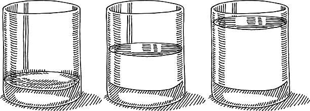 Best Glass Half Empty Illustrations, Royalty.