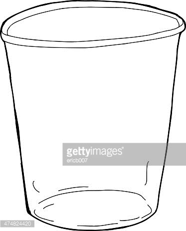 Empty Outlined Cup stock vectors.