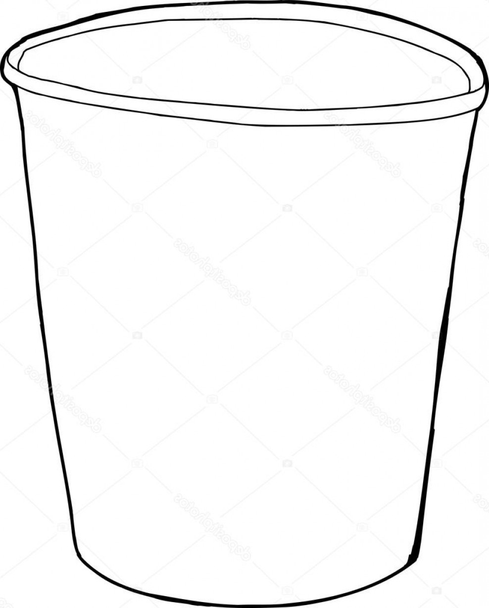 Stock Illustration Cartoon Outline Of Styrofoam Cup.