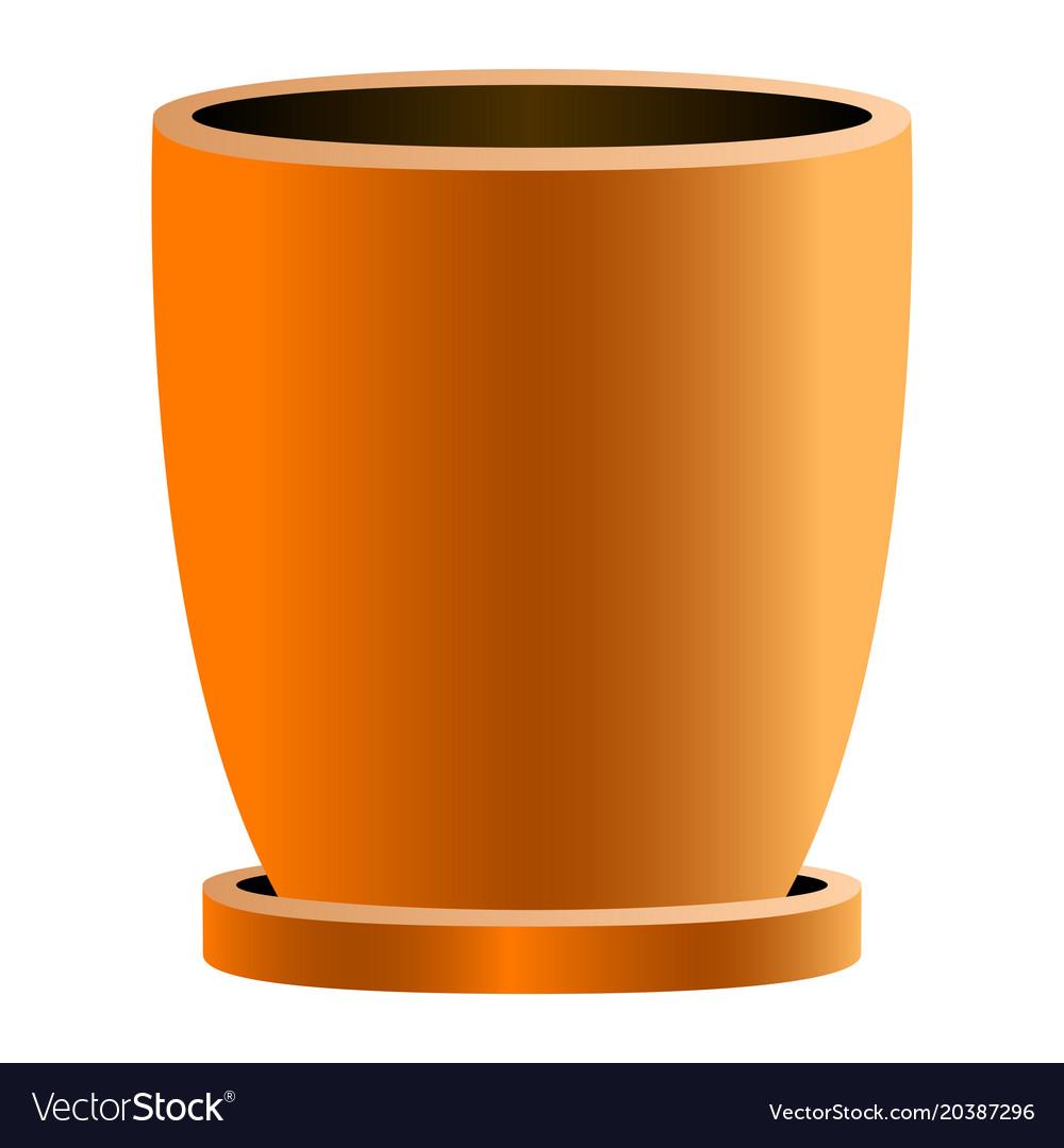 Isolated empty flower pot vector image on VectorStock.