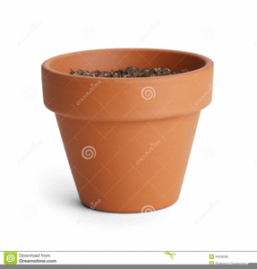 Empty Flower Pot Clipart.