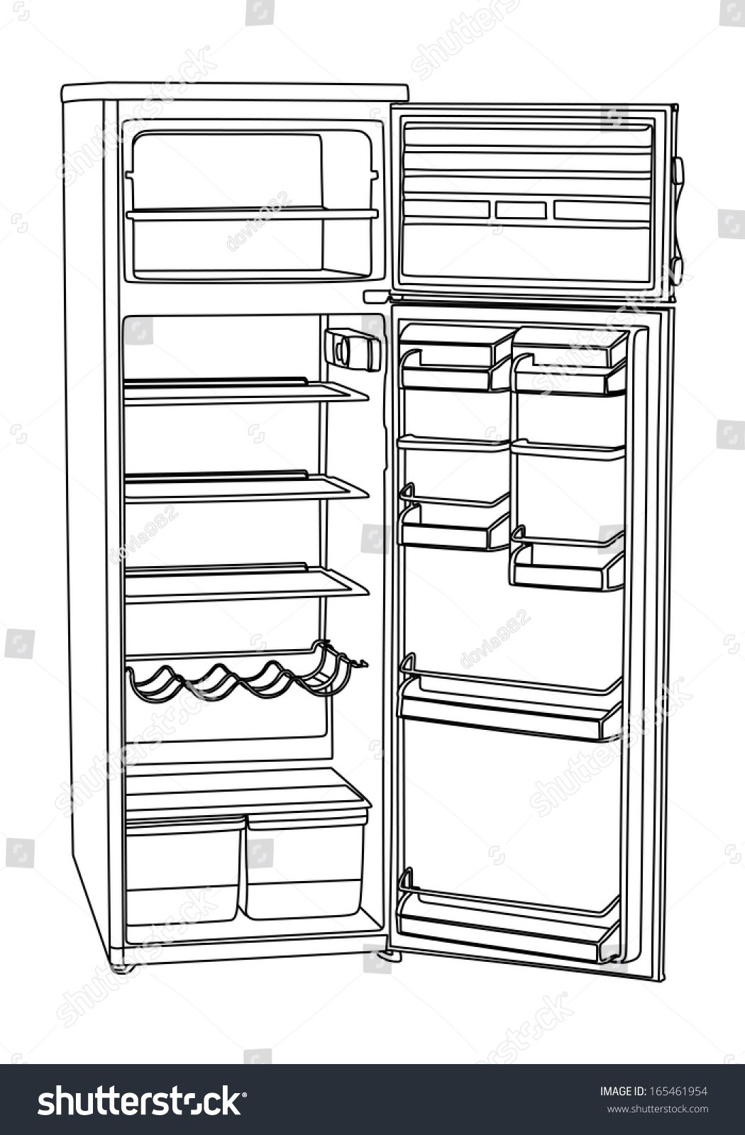 Empty fridge clipart 8 » Clipart Portal.