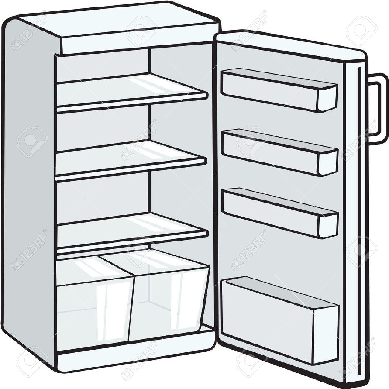 empty fridge.