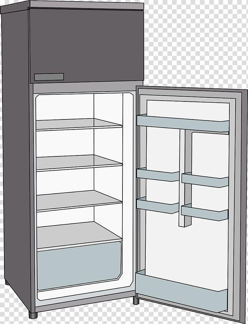 Refrigerator , Empty refrigerator transparent background PNG clipart.