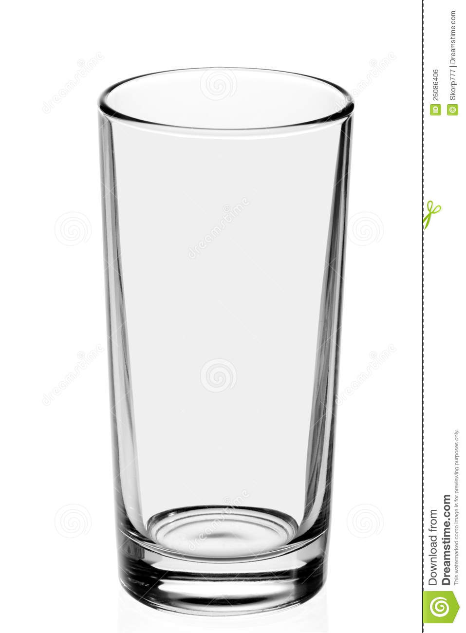 Empty Glass On The White.