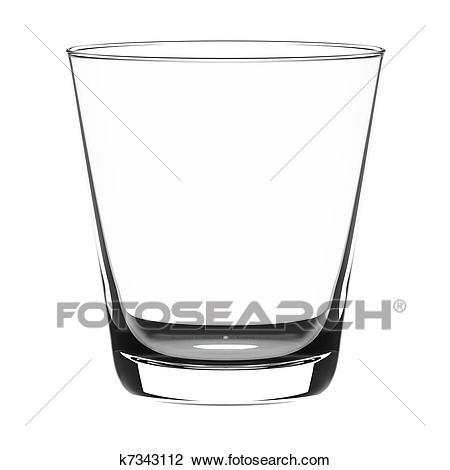 Empty glass clipart black and white 2 » Clipart Portal.