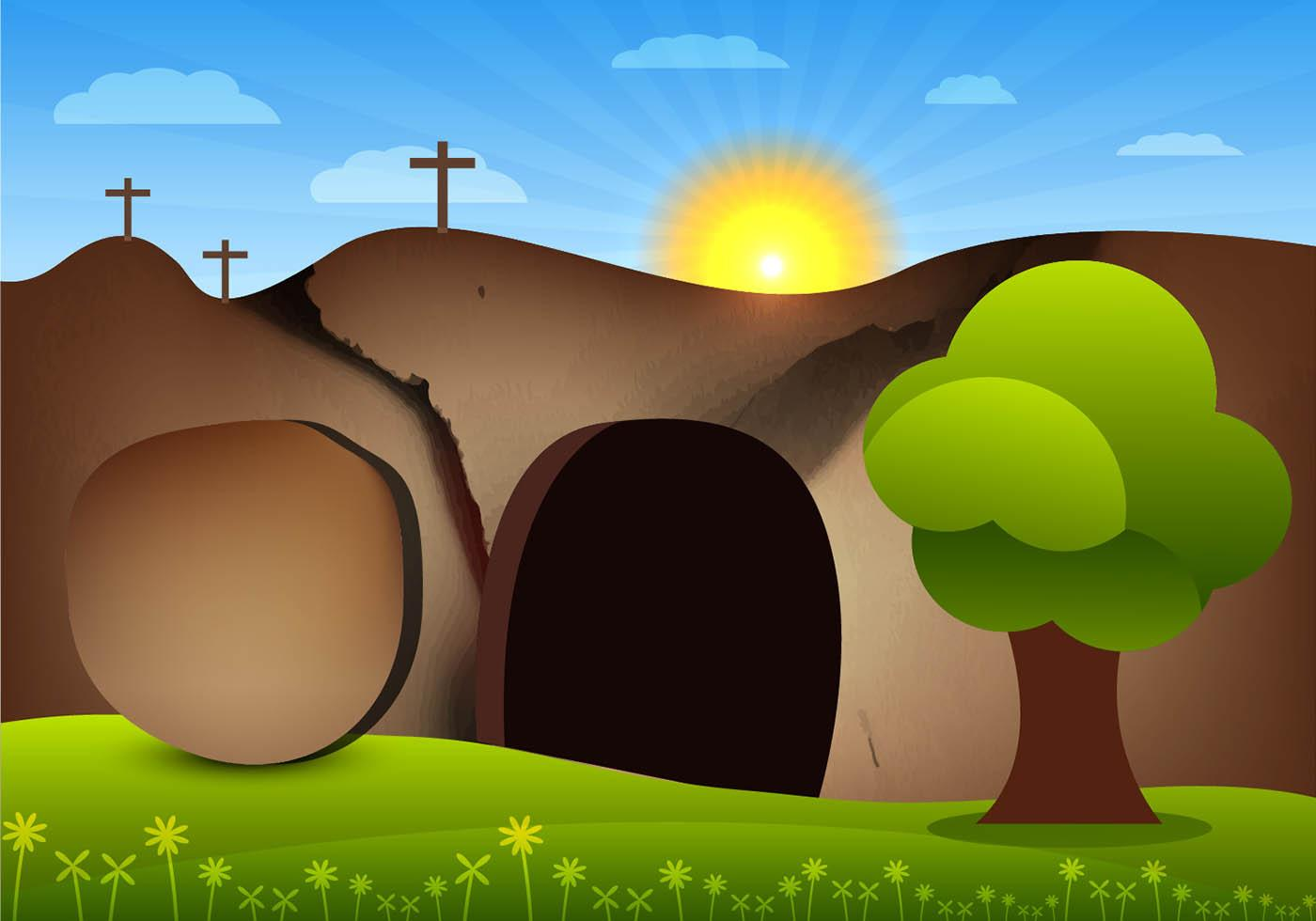 HD Black And White Easter Tomb Vector Pictures » Free Vector Art.