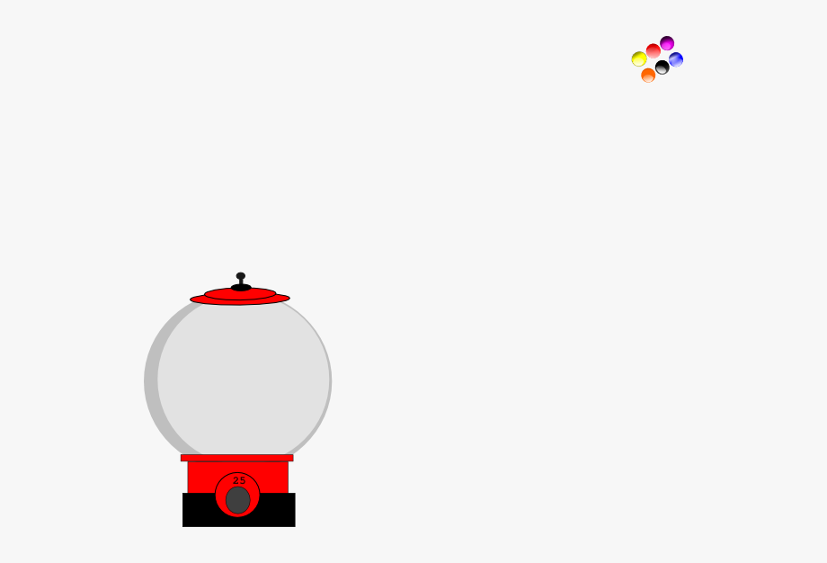 Empty Gumball Machine Transparent Png , Transparent Cartoon.