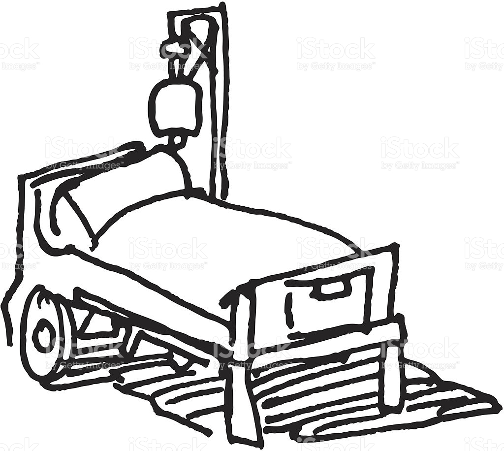 Hospital Bed Clipart Black And White.