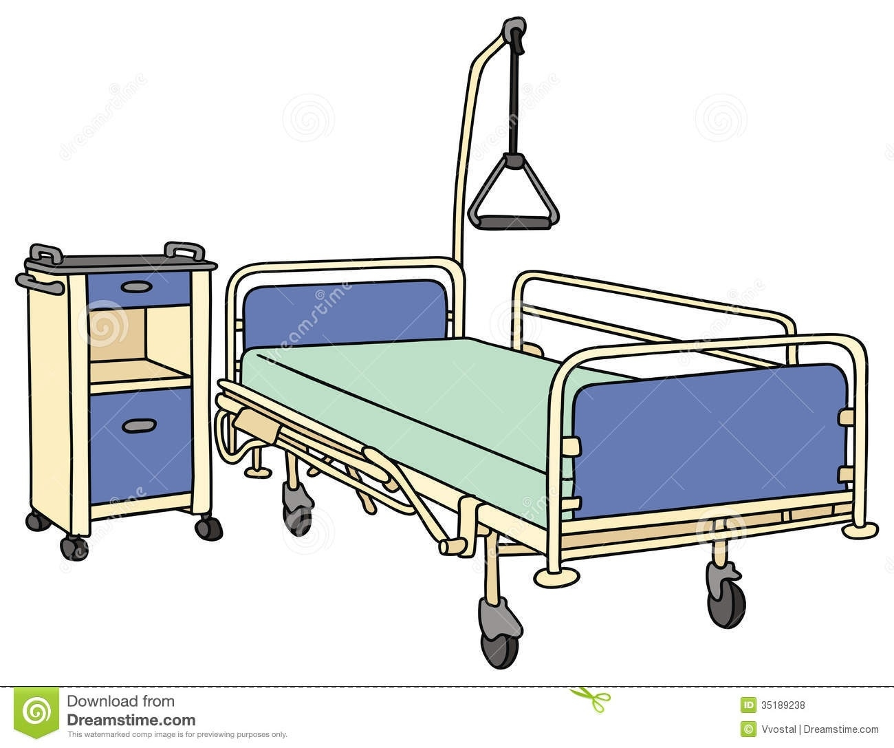 Empty Hospital Bed Clipart.