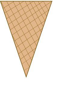 Sugar Cone Clipart.