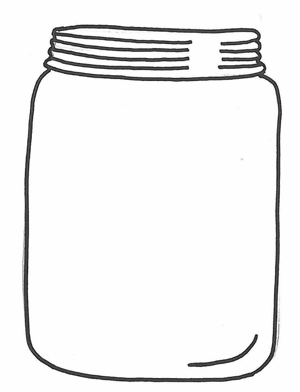 Empty Jar Clipart.