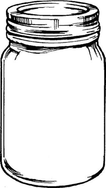 Free mason jar tempplates an ink drawing of a mason jar clipart.