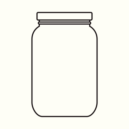 Clipart Empty Jar.