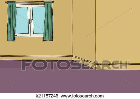 Empty Living Room Clip Art.