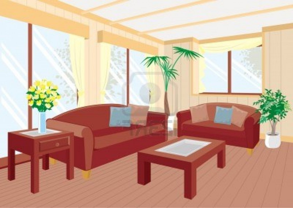 Empty living room clipart 3 » Clipart Station.