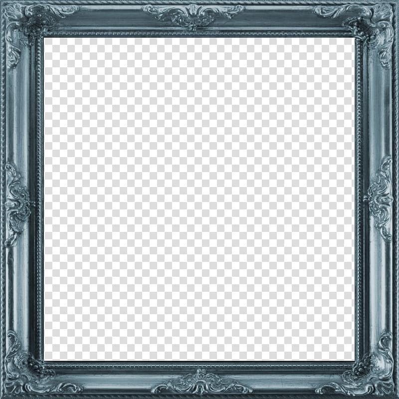 Antique Frame I square, empty gray frame transparent.