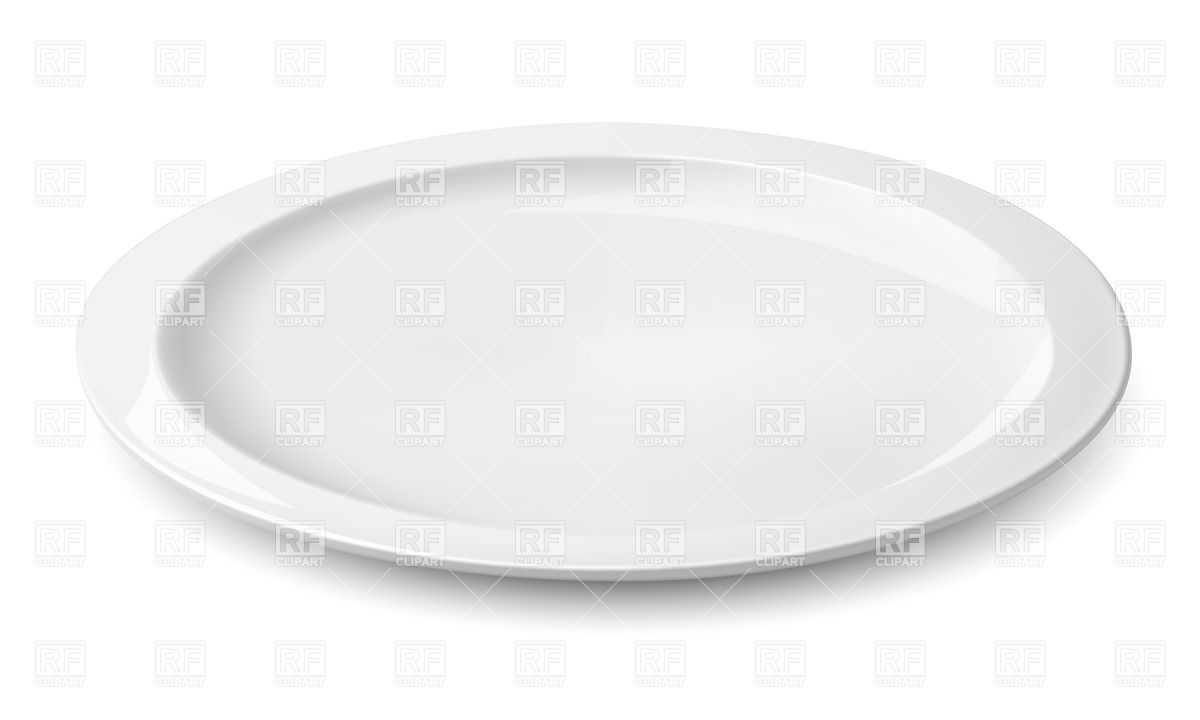 Empty plate isolated on white Stock Vector Image.