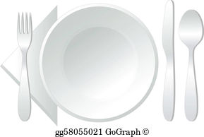 Empty Plate Clip Art.