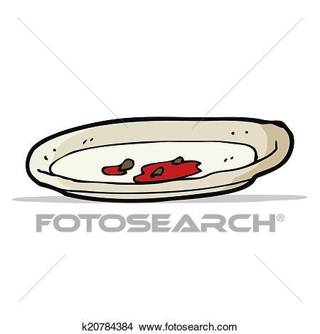 Cartoon empty plate Clipart.