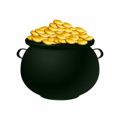 pots of gold , Free clipart download.