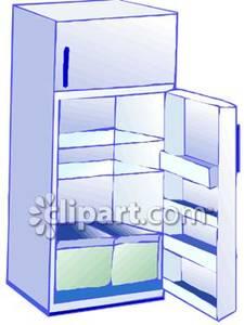 Standard Empty Refrigerator.