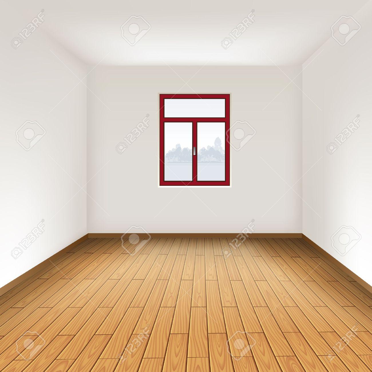 Empty room with hardwood floor..