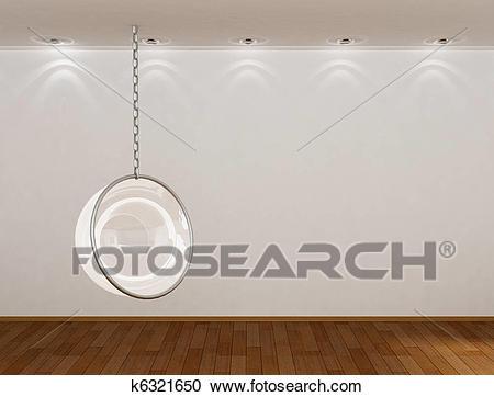 3d empty room Clipart.