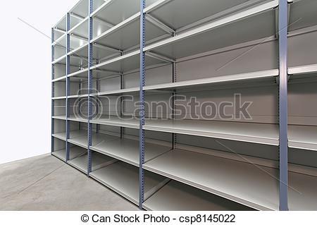 Stock Photo of Empty storage room.