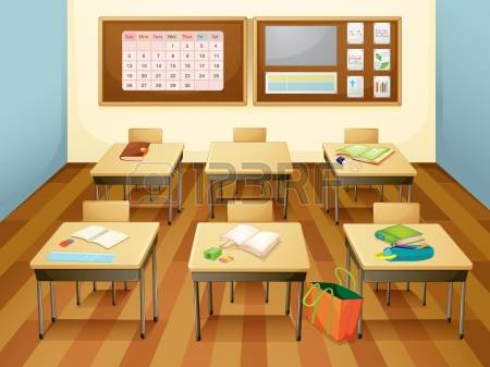 4,496 Empty Classroom Cliparts, Stock Vector And Royalty Free.