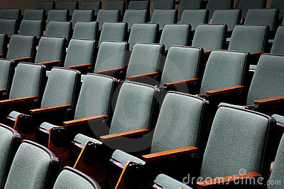Empty Auditorium Seats Royalty Free Stock Images.