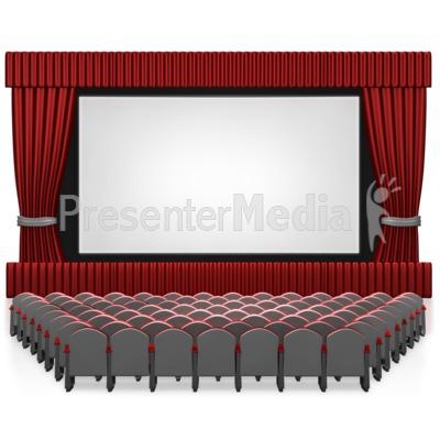 Empty Seat Movie Theater.