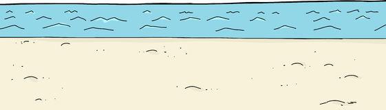 Empty Sky Over Beach Stock Illustrations.