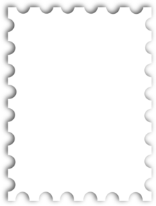 Free Black And White Postage Stamps, Download Free Clip Art.