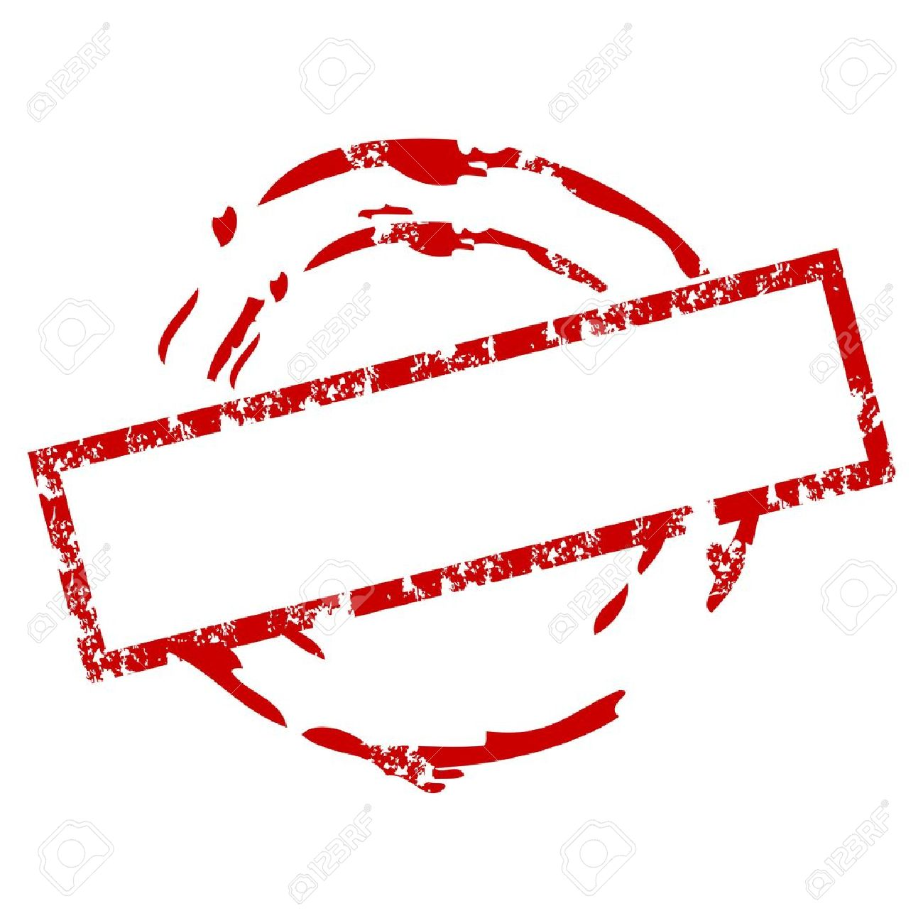 Empty rubber stamp.