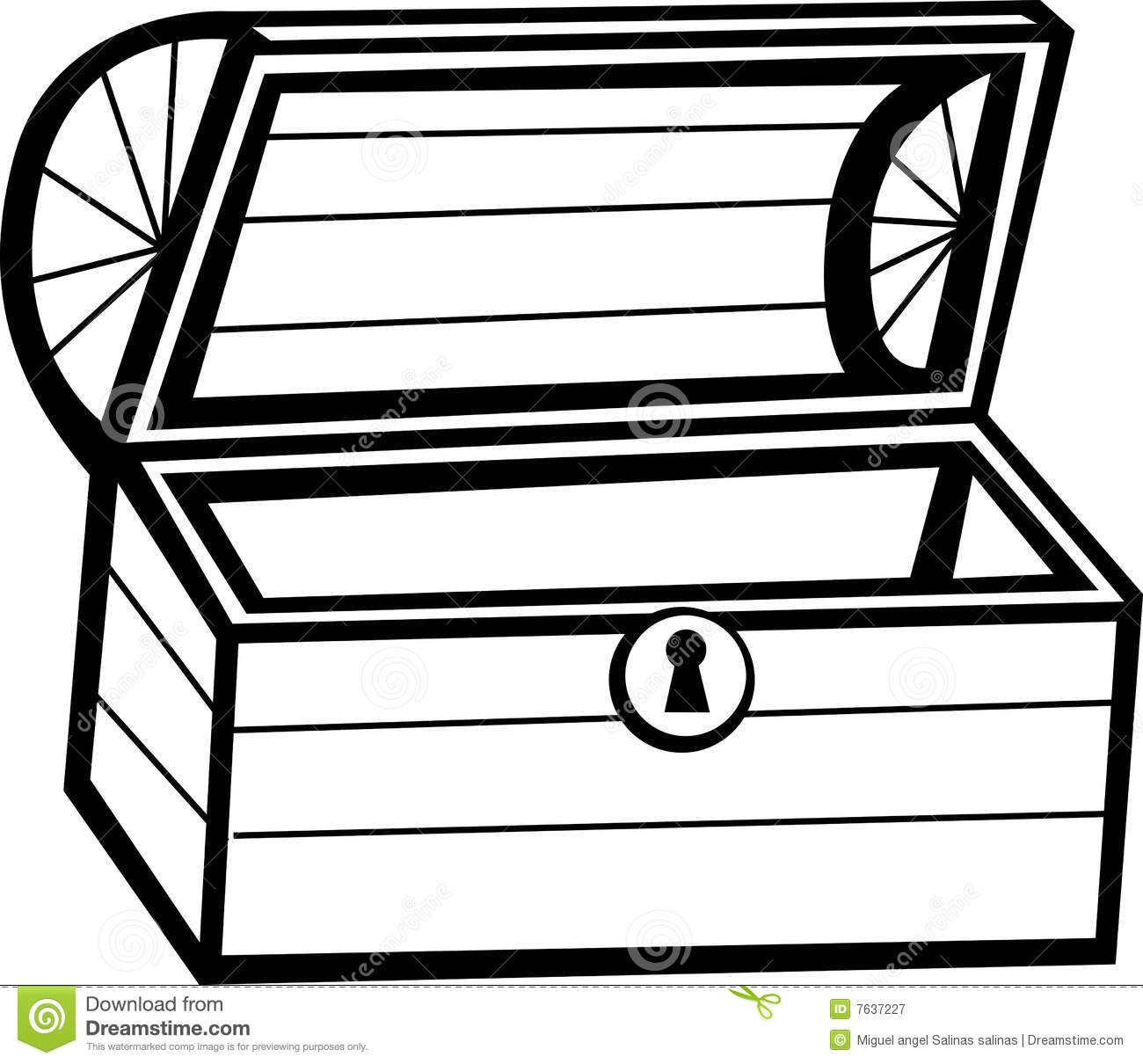 empty treasure chest vector.