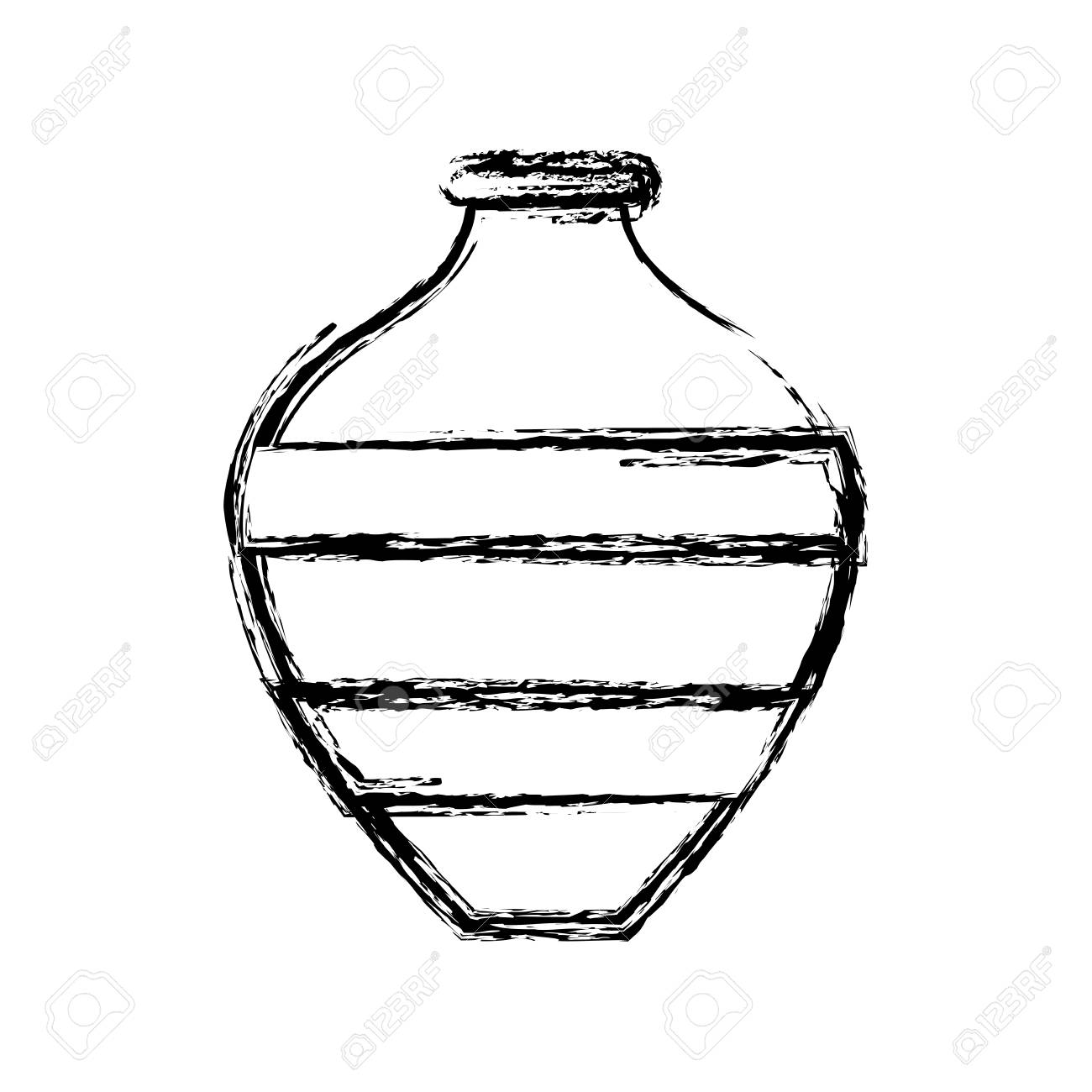 Empty flower vase icon vector illustration graphic design.