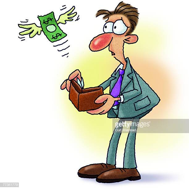 25 Empty Wallet Stock Illustrations, Clip art, Cartoons & Icons.