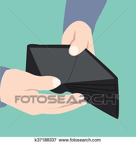 Empty wallet, broke.