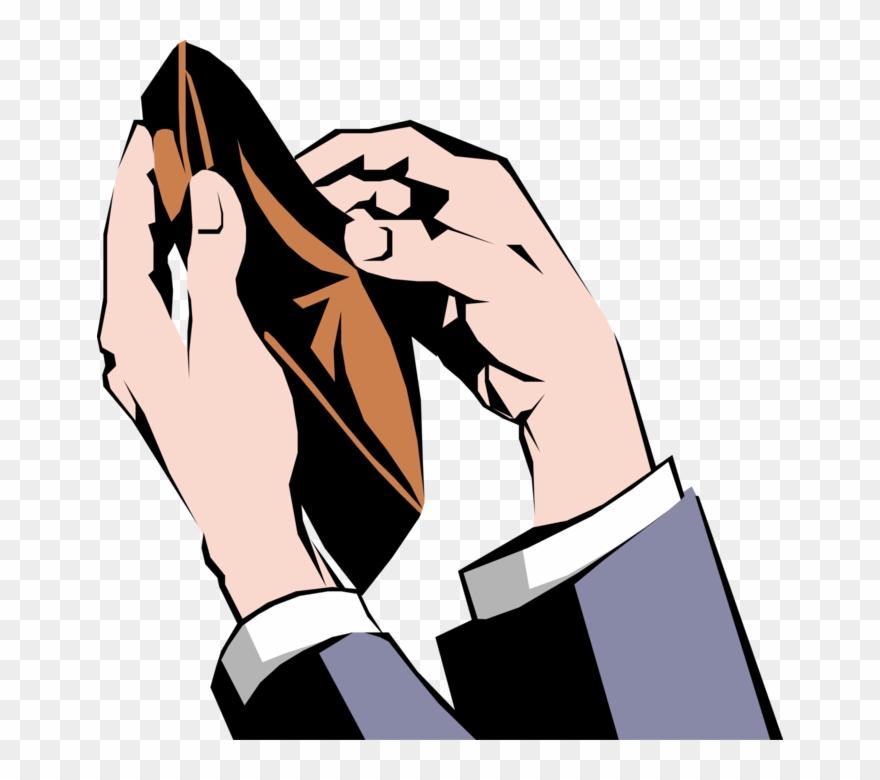 Empty Wallet Cartoon Png.