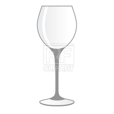 Empty wineglass Stock Vector Image.
