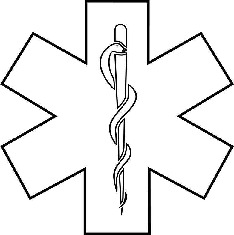 EMT Star of Life Clip Art.