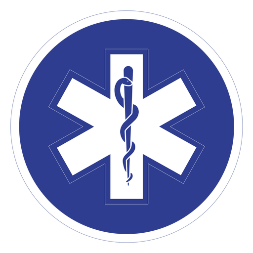 Emt paramedic badge.