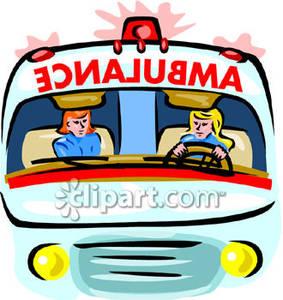 EMT's In Their Ambulance.