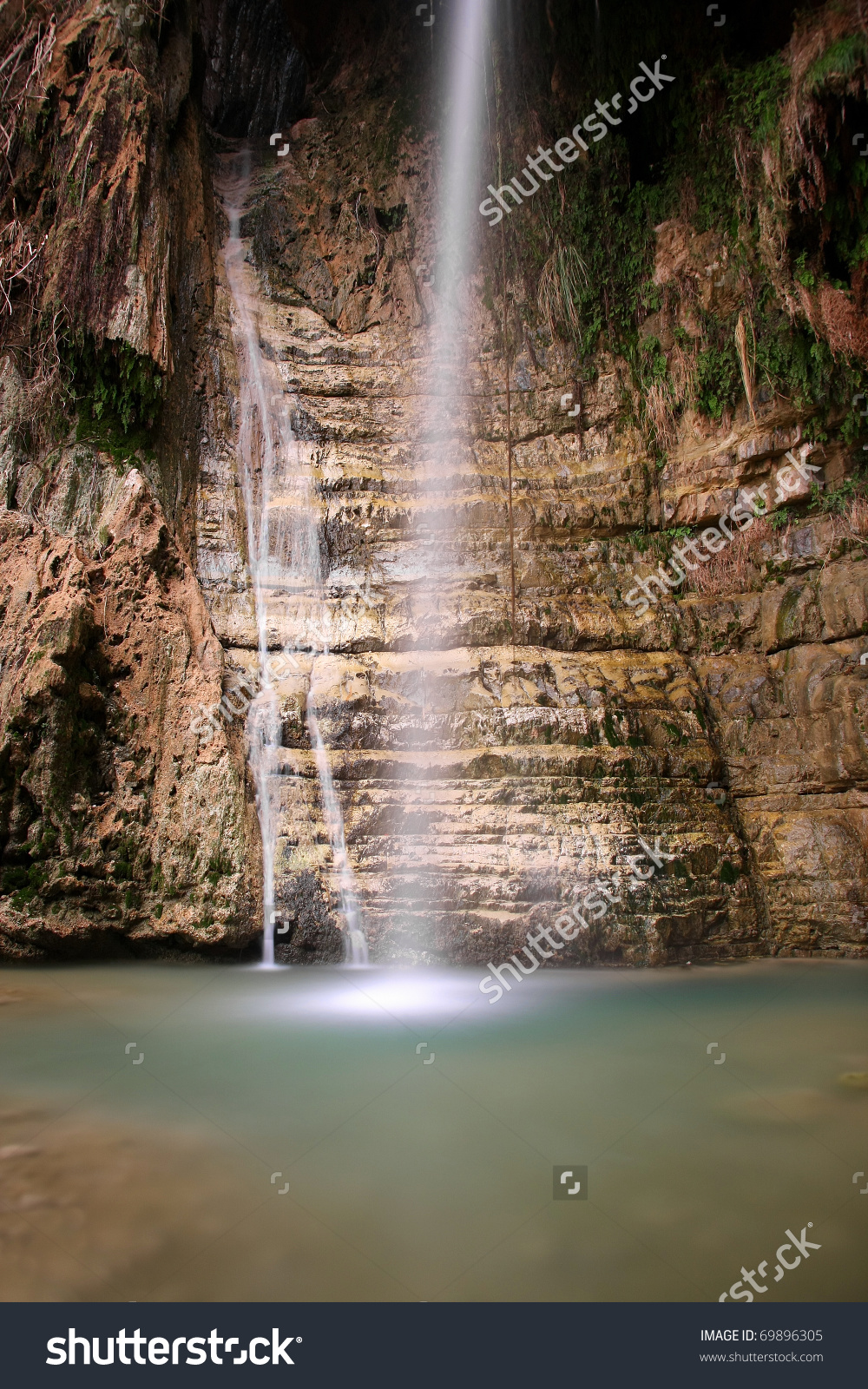"The David Waterfalls, Located In ""En Gedi"" Reservation, The Negev."