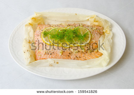 Salmon En Papillote Stock Photos, Royalty.