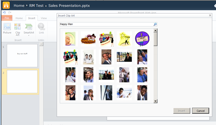 How to: Enable Clip Art with PowerPoint Web App SP1.