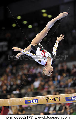 "Picture of ""Pia Tolle, GER, balance beam, EnBW Gymnastics World."